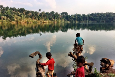 Time to cool off. Photo taken in or around Yak Lom Lake, Banlung, Cambodia by Nicky Sullivan.