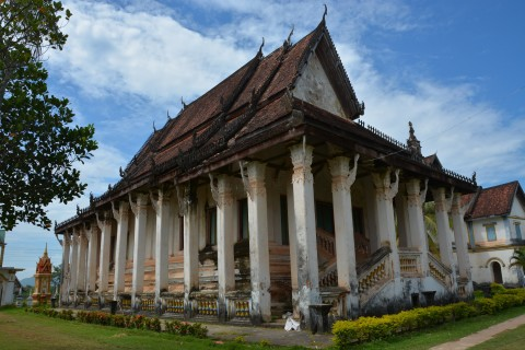 Classic temple lines. Photo taken in or around Wat Muang Kang, Champasak, Laos by Cindy Fan.