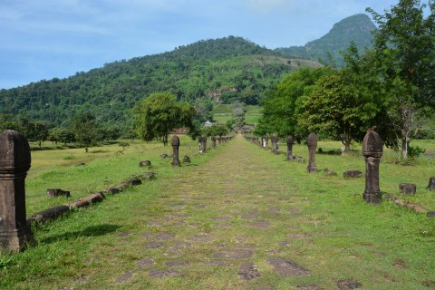 Some walking involved. Photo taken in or around Wat Phu, Champasak, Laos by Cindy Fan.
