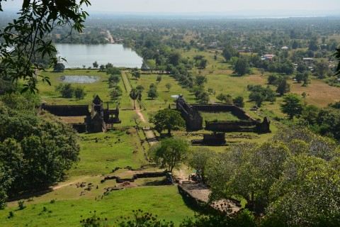 The view from above. Photo taken in or around Wat Phu, Champasak, Laos by Cindy Fan.
