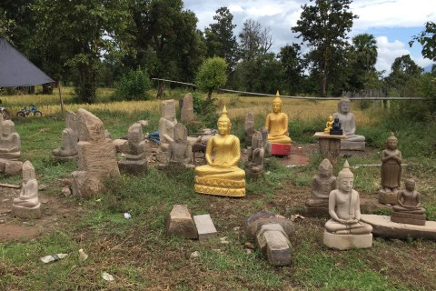 At Don Khor where divinity is always a work in progress. Photo taken in or around Don Kho Island, Ban Saphai and Wat Chompet, Pakse, Laos by Cindy Fan.