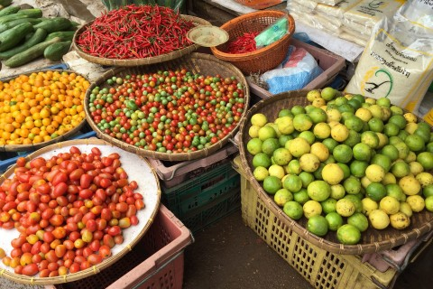 Top quality produce. Photo taken in or around Dao Heuang morning market, Pakse, Laos by Cindy Fan.