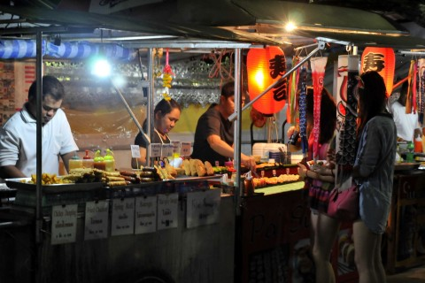 Evening at the Walking Street. Photo taken in or around Markets, Pai, Thailand by Mark Ord.