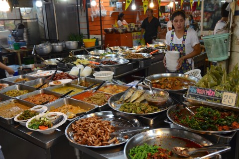 Plenty to choose from at Or Tor Kor market. Photo taken in or around Bangkok by Skytrain and Subway, Bangkok, Thailand by David Luekens.