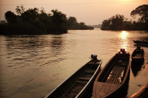 Sunset closing in. Photo taken in or around 4,000 Islands, but which one is best?, Don Dhet, Laos by Adam Poskitt.