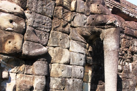 The elephant in the room. Photo taken in or around Terrace of Elephants, Angkor, Cambodia by Caroline Major.