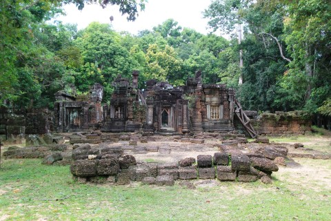Small temple, the exact purpose unknown. Photo taken in or around Krol Ko, Angkor, Cambodia by Caroline Major.