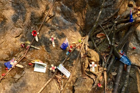 Lest we forget. Photo taken in or around Hellfire Pass, Kanchanaburi, Thailand by David Luekens.