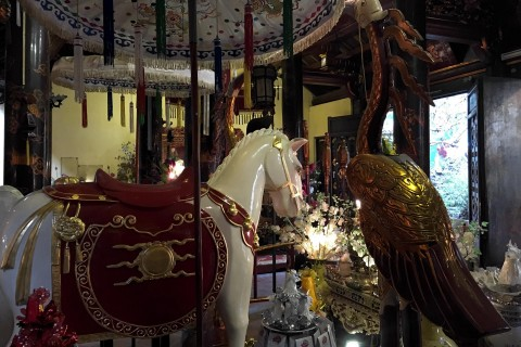 The horse that helped a king. Or at least, a replica. Photo taken in or around Bach Ma Temple, Hanoi, Vietnam by Samantha Brown.