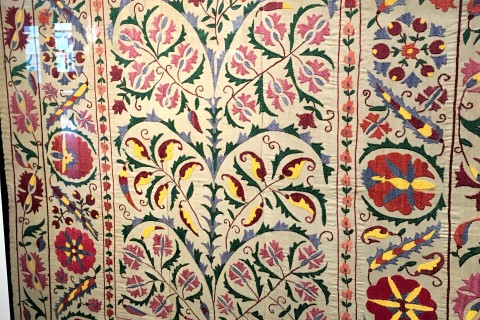 Stunning traditional Uzbek and Tajik embroidery. Photo taken in or around Vietnam Museum of Ethnology, Hanoi, Vietnam by Samantha Brown.