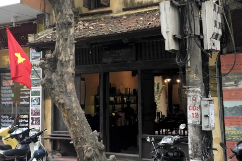 The lovely restored old house at 87 Ma May. Photo taken in or around Hanoi's 36 streets, Hanoi, Vietnam by Samantha Brown.