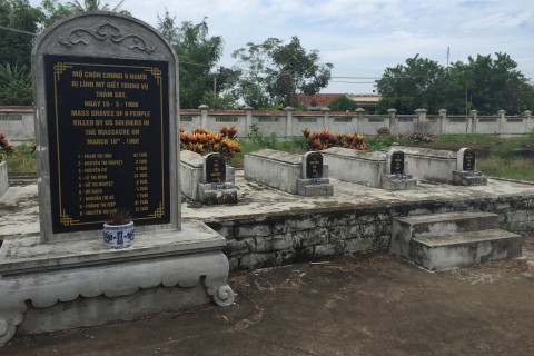 One of the mass graves at Son My. Photo taken in or around Son My Museum, Quang Ngai, Vietnam by Cindy Fan.