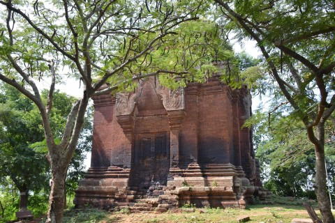 The massive laterite tower. Photo taken in or around Phnom Da, Takeo, Cambodia by Mark Ord.