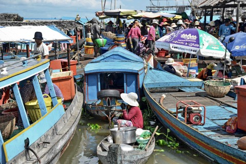 You can lose hours wandering Phsar Krom and the waterfront. Photo taken in or around Two-day itinerary, Kompong Chhnang, Cambodia by Mark Ord.