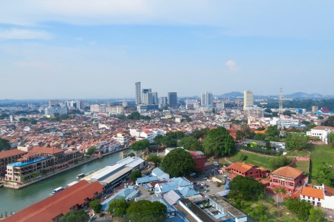 Outstanding views over Melaka. Photo taken in or around Colonial district walking tour, Melaka, Malaysia by Sally Arnold.
