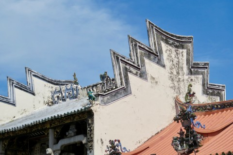 Now that is a roofline. Photo taken in or around King Street Temples, Penang, Malaysia by Sally Arnold.
