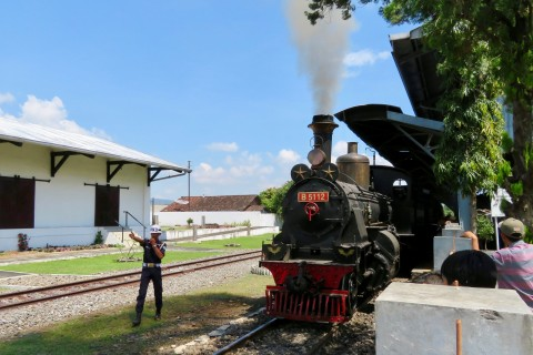 Let's get this show on the road. Photo taken in or around Indonesian Railway Museum, Semarang, Indonesia by Sally Arnold.