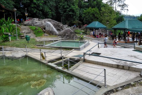 The pools of rejuvenation. Photo taken in or around Poring Hot Springs, Kinabalu Park, Malaysia by Sally Arnold.