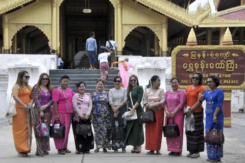A popular spot for domestic tourists. Photo taken in or around Mandalay Palace, Mandalay, Burma_myanmar by Mark Ord.