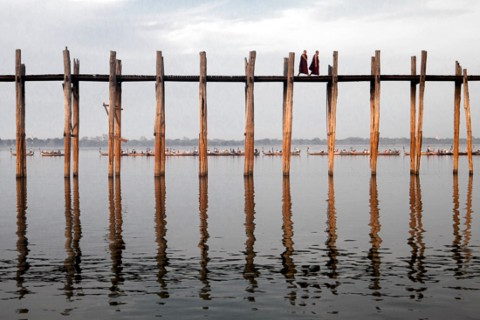 Fabulous photos for the taking at ever-changing U Bein Bridge. Photo taken in or around Great photography spots, Mandalay, Burma_myanmar by Christopher Smith.