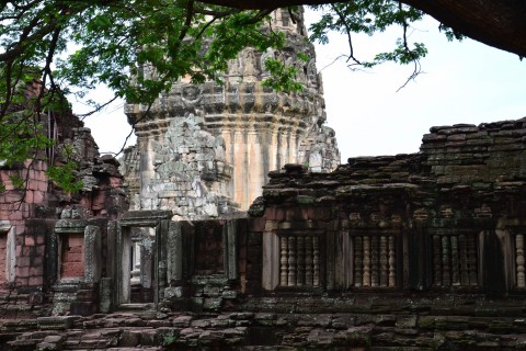 As long as you come outside of weekends, you won't find the crowds too large. Photo taken in or around Prasat Hin Phimai , Phimai, Thailand by David Luekens.